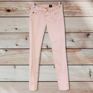 AG Pink The Absolute Legging Extreme Skinny Jeans